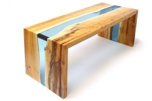 Table riviere en resine epoxy etape 11