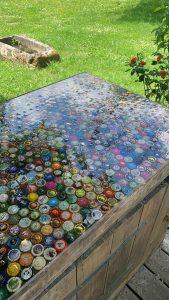 table riviere en resine dipoxy werke