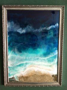 tableau d'art en resine dipoxy werke